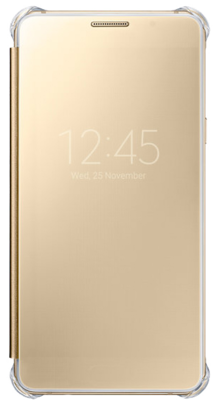Чехол Samsung Clear View EF-ZA710CZEGRU Pink Gold для Galaxy A7 (2016) 1