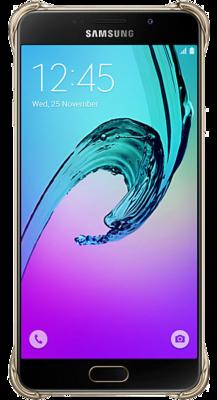 Чехол Samsung Clear Cover EF-QA710CFEGRU Gold для Galaxy A7 (2016) 3