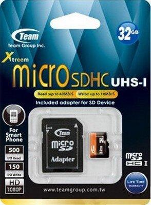 Карта памяти microSDHC 32GB Team Group TUSDH32GUHS03 3