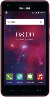 Смартфон Philips Xenium V377 Black Red 1