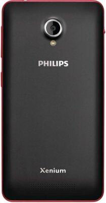 Смартфон Philips Xenium V377 Black Red 5