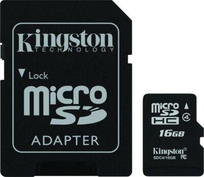 Карта пам'яті microSDHC 16GB Kingston SDC4/16GB 1
