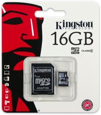 Карта пам'яті microSDHC 16GB Kingston SDC4/16GB 2