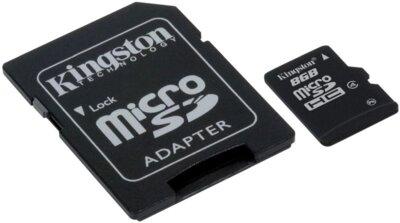 Карта памяти microSDHC 8GB Kingston SDC4/8GB 3