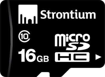 Карта памяти microSD 16GB Class 10 STRONTIUM SR16GTFC10R 1