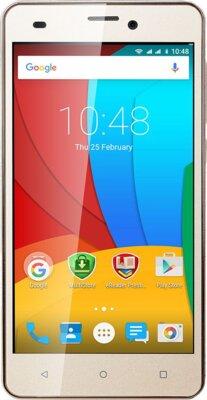 Смартфон Prestigio MultiPhone 3507 Wize N3 Dual Gold 1