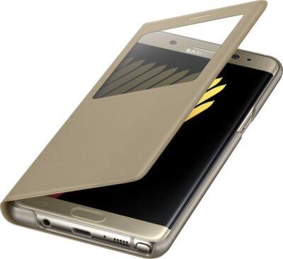 Чехол Samsung S View Cover EF-CN930PYEGRU Gold для Galaxy Note 7 3