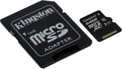 Карта пам'яті microSDXC 64GB Kingston SDC10G2/64GB 2