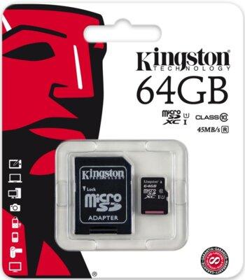 Карта пам'яті microSDXC 64GB Kingston SDC10G2/64GB 3