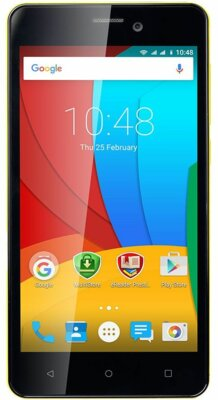 Смартфон Prestigio MultiPhone 3517 Wize NX3 Dual Yellow 1