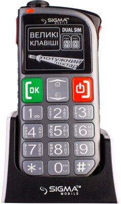 Мобильный телефон Sigma Comfort 50 Light Dual SIM Grey 2
