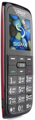 Мобильный телефон Sigma Comfort 50 Slim Red Black 3