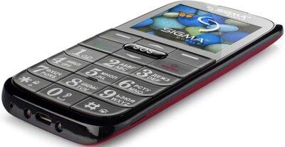 Мобильный телефон Sigma Comfort 50 Slim Red Black 5