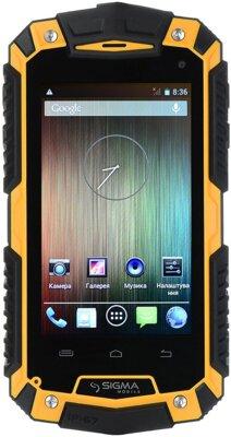 Смартфон Sigma mobile X-treame PQ16 Yellow 1