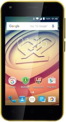 Смартфон Prestigio MultiPhone 3403 Wize L3 Dual Yellow 1