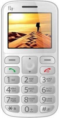 Мобильный телефон Fly Ezzy 8 White 1