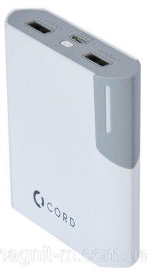 Мобільна батарея Cord Standart Y10400 White/Grey 2