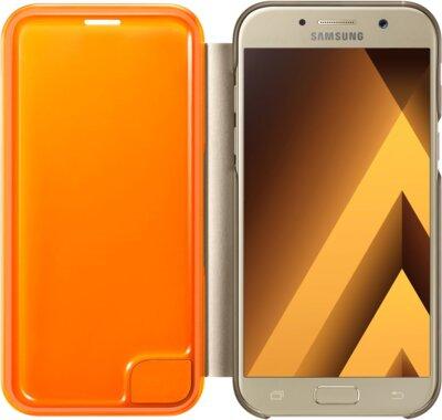 Чехол Samsung Neon Flip Cover EF-FA520PFEGRU Gold для Galaxy A5 (2017) 3