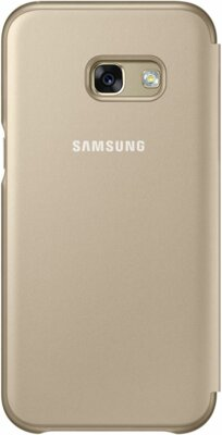 Чехол Samsung Neon Flip Cover EF-FA320PFEGRU Gold для Galaxy A3 (2017) 2