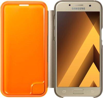 Чехол Samsung Neon Flip Cover EF-FA320PFEGRU Gold для Galaxy A3 (2017) 3