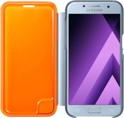 Чехол Samsung Neon Flip Cover EF-FA320PLEGRU Blue для Galaxy A3 (2017) 3