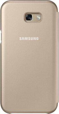 Чехол Samsung Neon Flip Cover EF-FA720PFEGRU Gold для Galaxy A7 (2017) 2