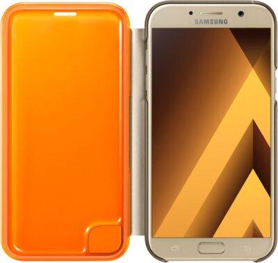 Чехол Samsung Neon Flip Cover EF-FA720PFEGRU Gold для Galaxy A7 (2017) 3