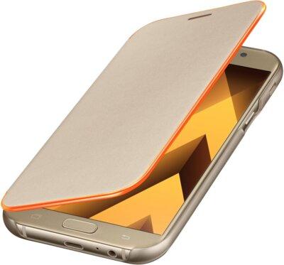 Чехол Samsung Neon Flip Cover EF-FA720PFEGRU Gold для Galaxy A7 (2017) 4