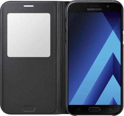 Чохол Samsung S View Standing Cover EF-CA720PBEGRU Black для Galaxy A7 (2017) 3
