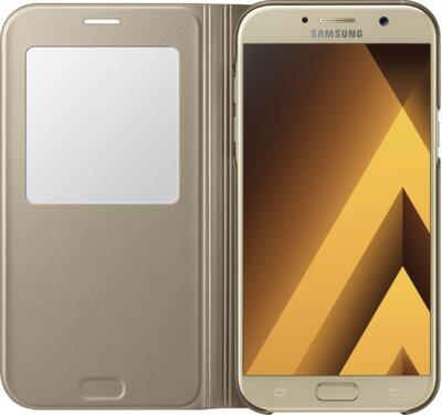 Чохол Samsung S View Standing Cover EF-CA720PFEGRU Gold для Galaxy A7 (2017) 3