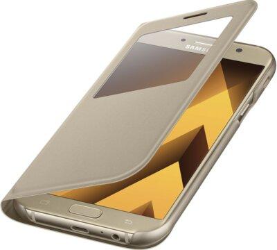 Чохол Samsung S View Standing Cover EF-CA720PFEGRU Gold для Galaxy A7 (2017) 4