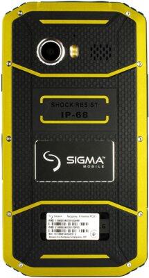 Смартфон Sigma X-treme PQ31 Yellow-Black 3