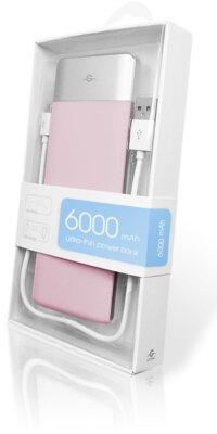 Мобільна батарея Global G.Power Bank DP662 6000mAh Pink 4
