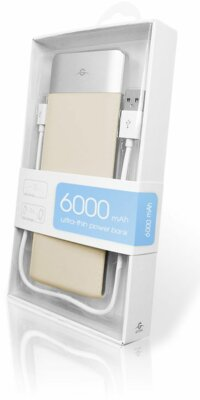 Мобильная батарея Global G.Power Bank DP622 6000mAh Beige 4