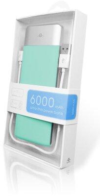 Мобільна батарея Global G.Power Bank DP662 6000mAh Turquoise 4