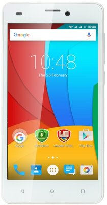 Смартфон Prestigio MultiPhone 3506 Wize M3 Dual White 1