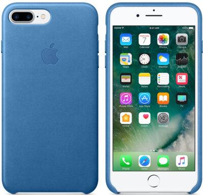 Чехол Apple Leather Case Sea Blue для iPhone 7 Plus 2