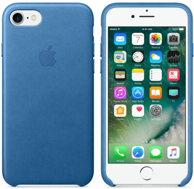Чехол Apple Leather Case Sea Blue для iPhone 7 2
