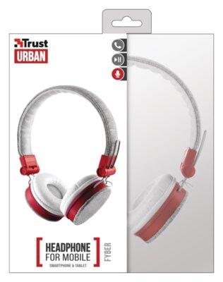 Наушники Trust Urban Revolt Fyber Headphone Grey/Red 5