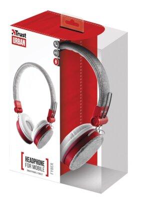 Наушники Trust Urban Revolt Fyber Headphone Grey/Red 6