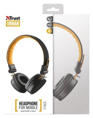 Навушники Trust Urban Revolt Fyber Headphone Black/Orange 6