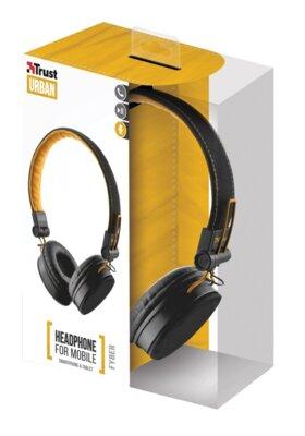 Навушники Trust Urban Revolt Fyber Headphone Black/Orange 7