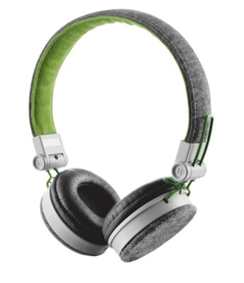 Навушники Trust Urban Revolt Fyber Headphone Grey/Green 4