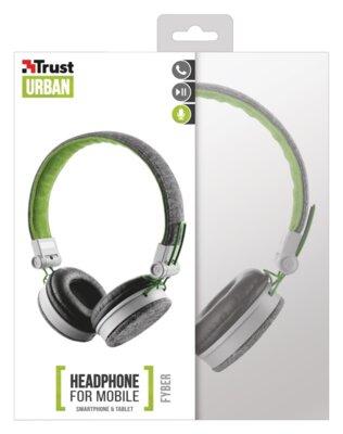 Навушники Trust Urban Revolt Fyber Headphone Grey/Green 6