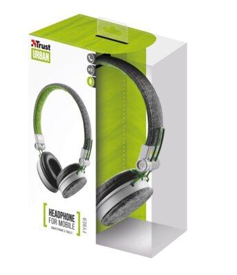 Навушники Trust Urban Revolt Fyber Headphone Grey/Green 7