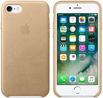 Чехол Apple Leather Case Tan для iPhone 7 2
