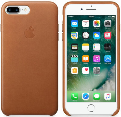 Чехол Apple Saddle Brown для iPhone 7 Plus 2