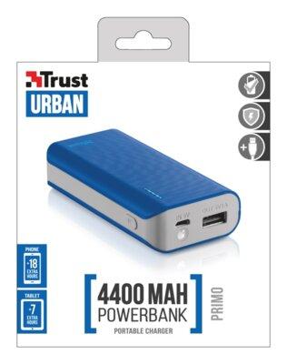 Мобільна батарея Trust Primo 4400 Blue 4