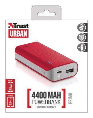 Мобильная батарея Trust Primo 4400 Red 4