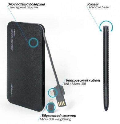 Мобильная батарея Global G. Power Bank DP520 4000 mAh Black 2